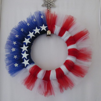 All American Tulle Wreath • Home Decor Wreaths | Garland | Centerpieces | Door Swags - Company in Las Vegas