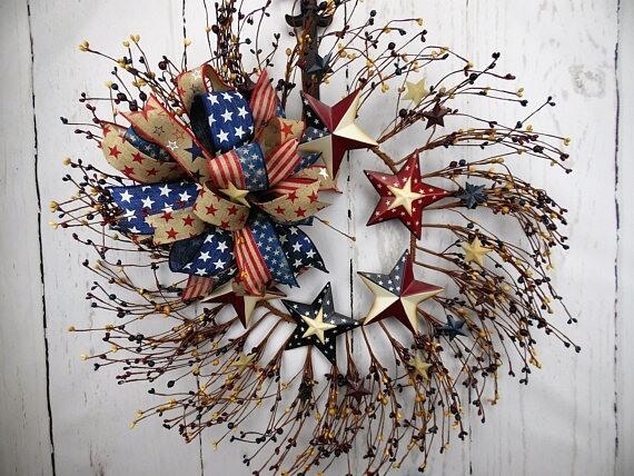 il_570xN.1210053028_ba1e Stars and Stripes Pip Berry Wreath Rustic
