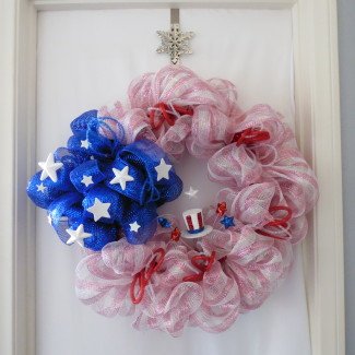 All American Patriotic Wreath