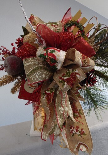 Rustic Christmas Lantern Swag or Christmas Tree Topper
