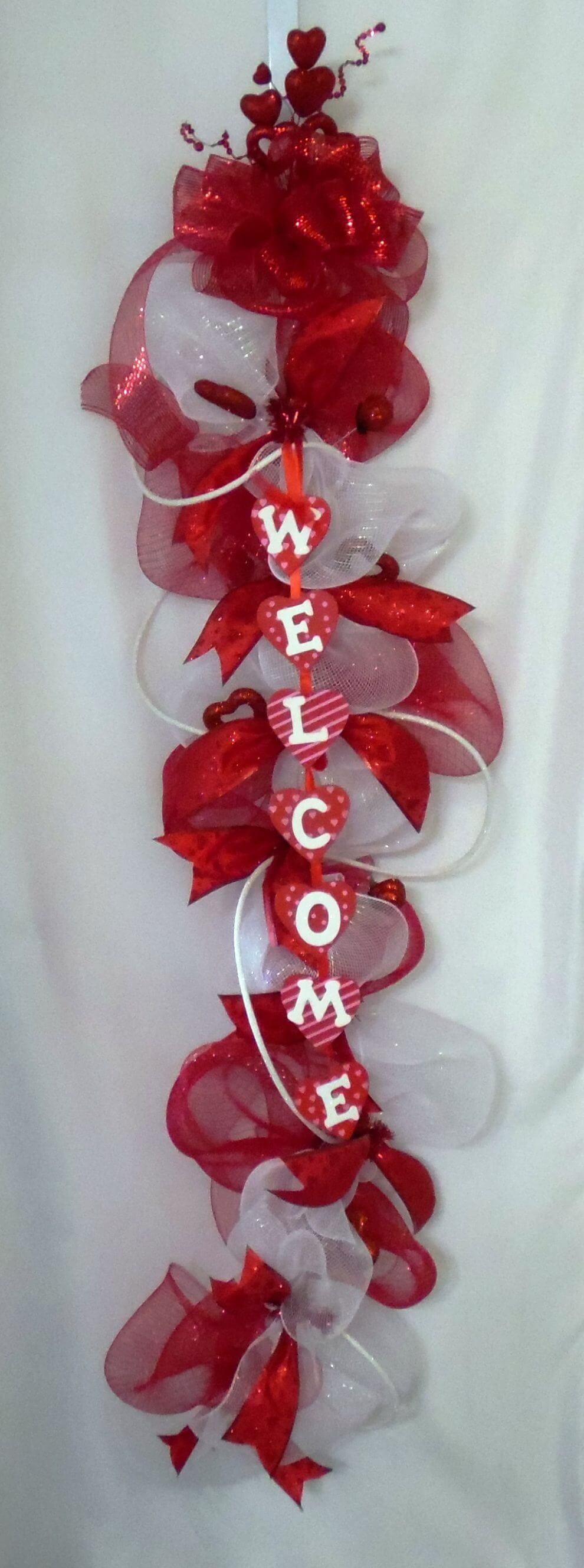 Valentineu0027s Day Welcome Door Swag u2022 Home Decor Wreaths | Garland | Centerpieces | Door Swags - Company in Las Vegas & Valentineu0027s Day Welcome Door Swag u2022 Home Decor Wreaths | Garland ...