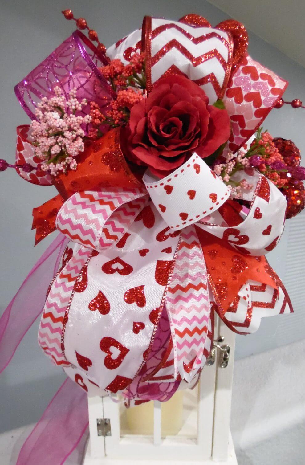 Valentines Day Decor, Centerpiece, Wedding Centerpiece,Lantern Swag ...