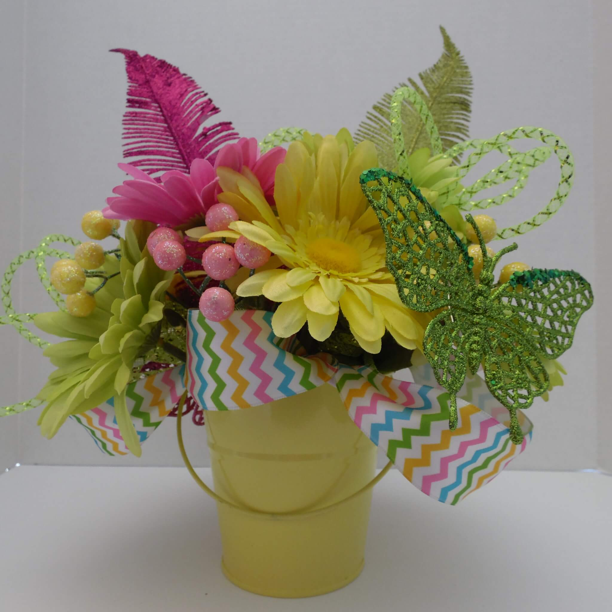 Spring Centerpiece with a Butterfly
