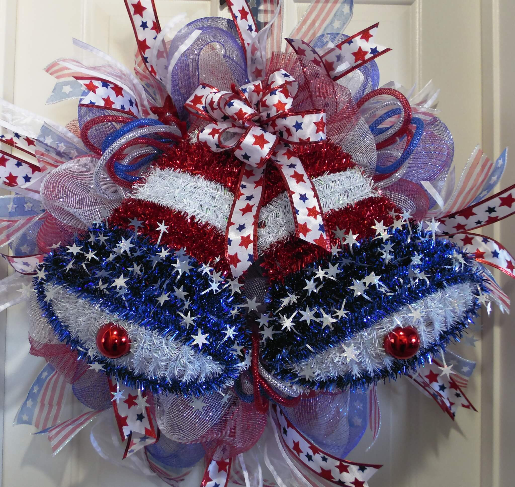 Red White And Blue Liberty Bell Wreath 4th Of July Wreath Wreaths Garland Centerpieces
