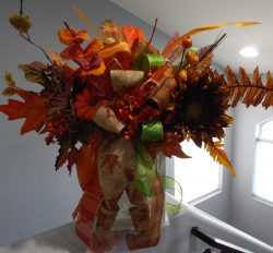 Fall Sunflower Lantern Swag