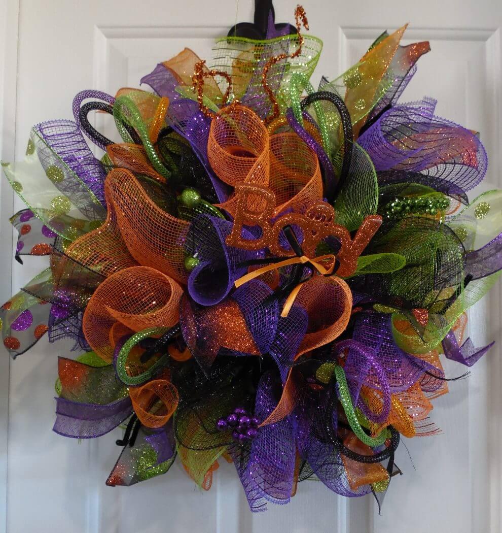 Home Decor Wreaths: Halloween Deco Mesh Wreath • Home Decor Wreaths