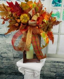 Fall Pumpkin & Sunflower Swag