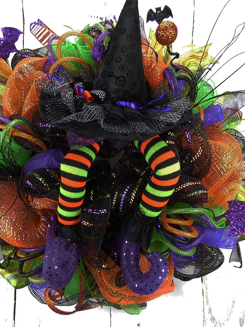 Halloween Wicked Witch Wreath