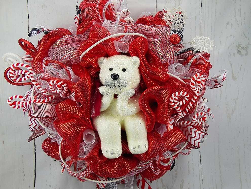 Polar Bear Christmas Wreath