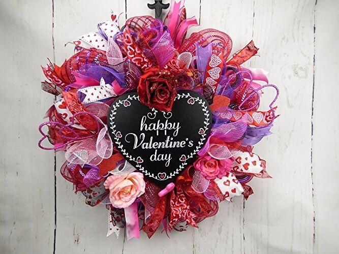 valentines day wreath 1 150x150 valentines day deco mesh wreath