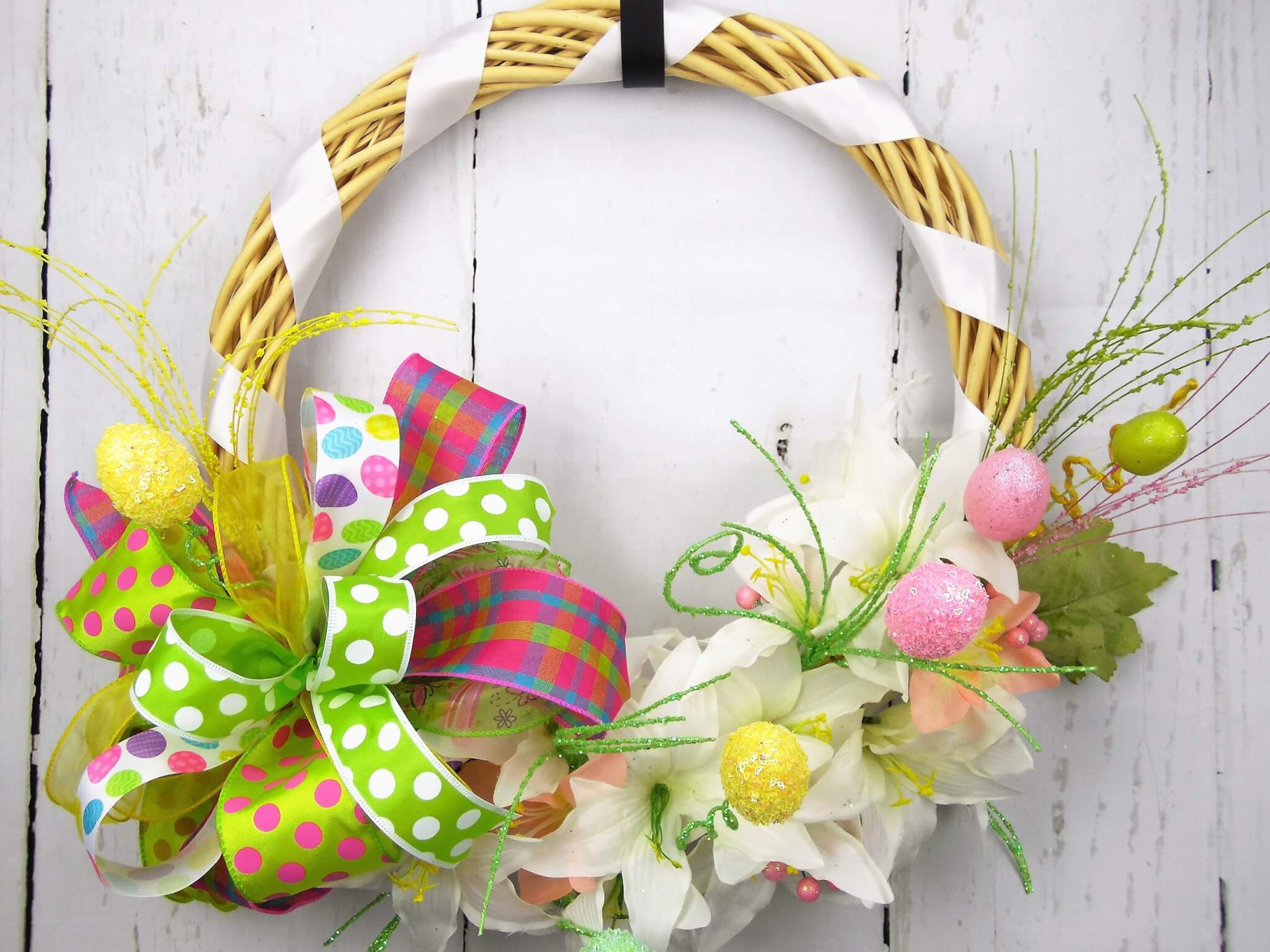 Easter Lily Egg Wreath
