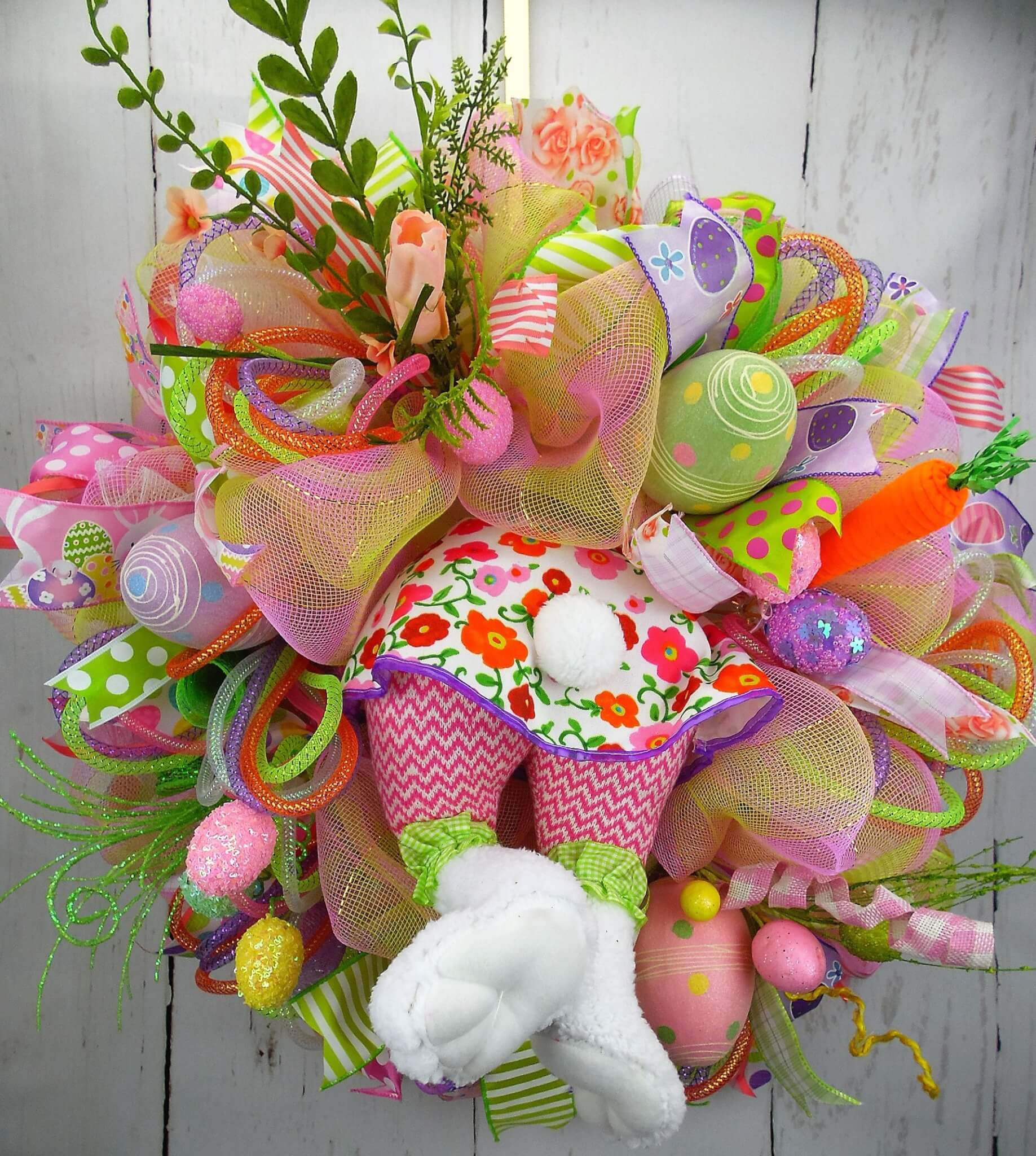 Girl Bunny Easter Wreath