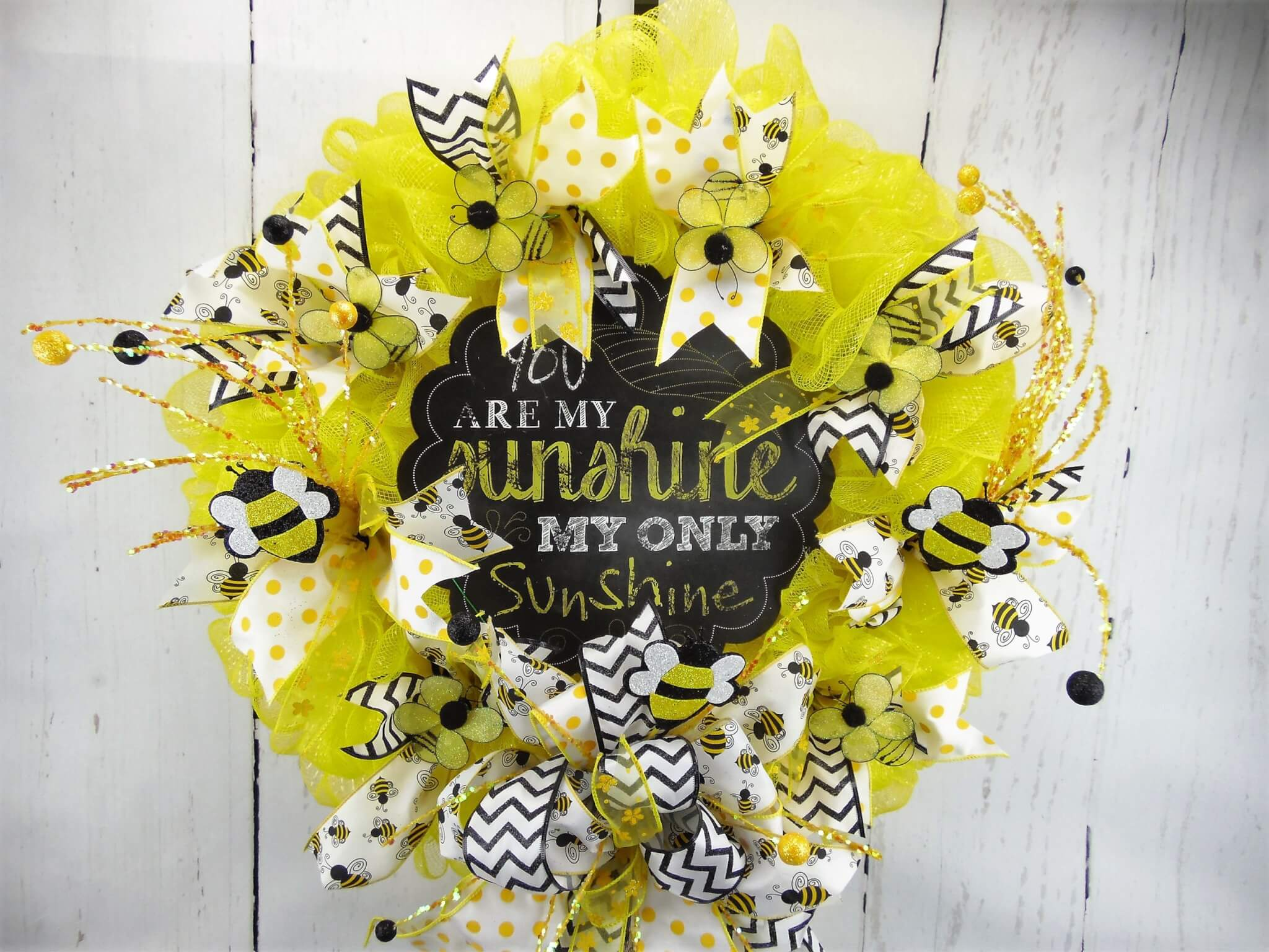 You are my Sunshine Wreath Deco Mesh