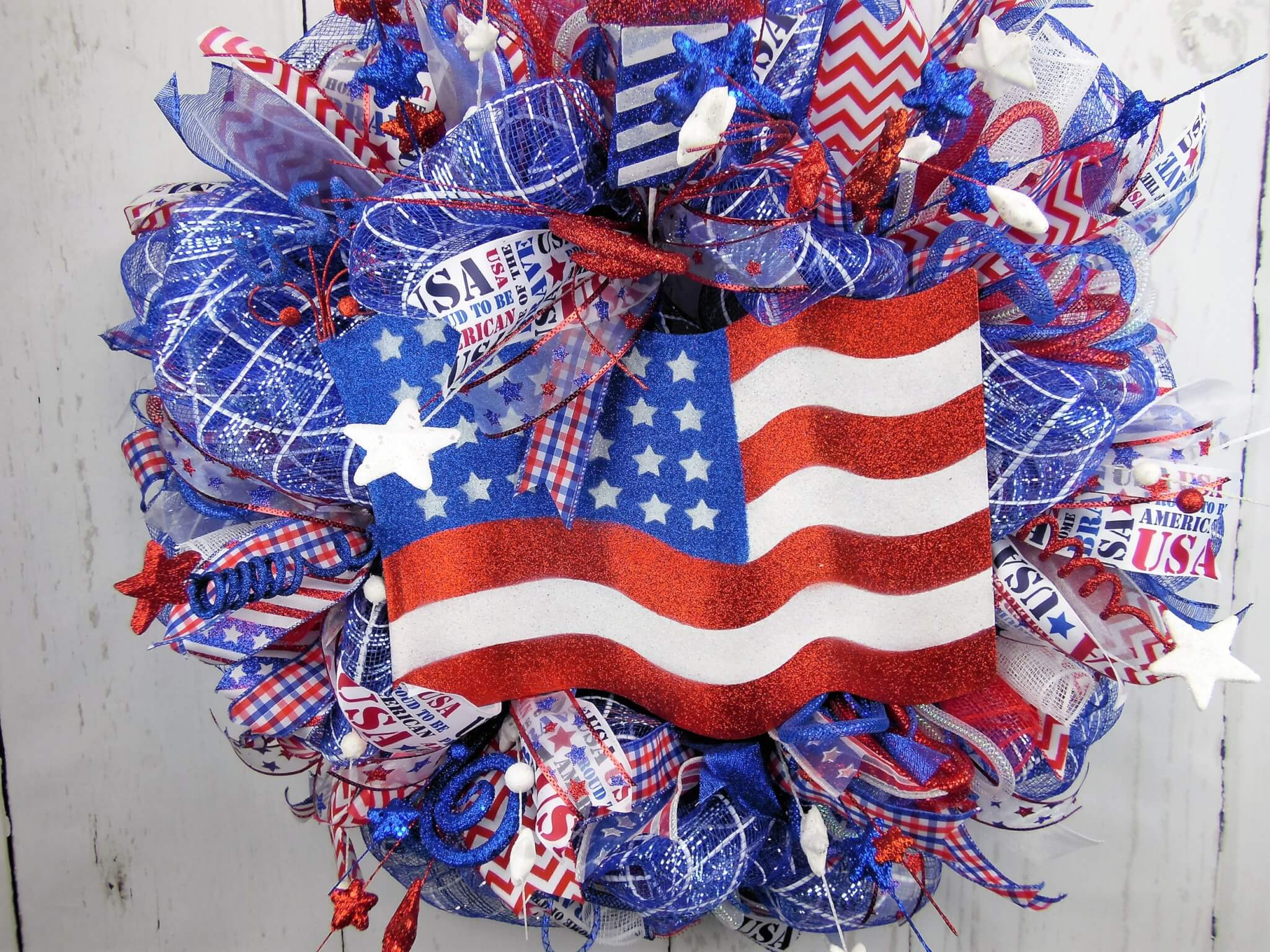 Independence Day American Flag Wreath