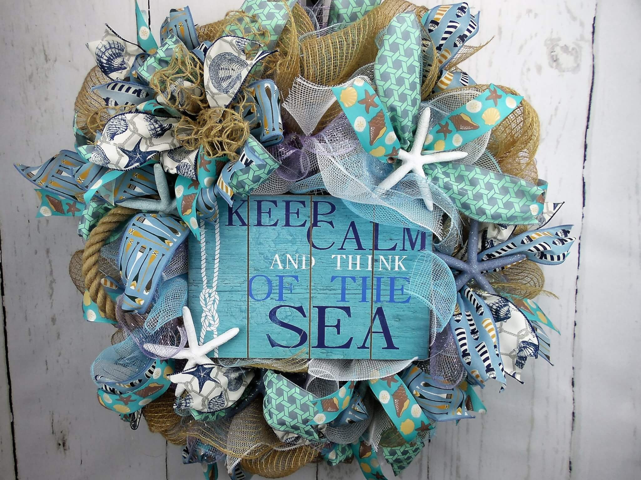 Beach Wreath with Starfish