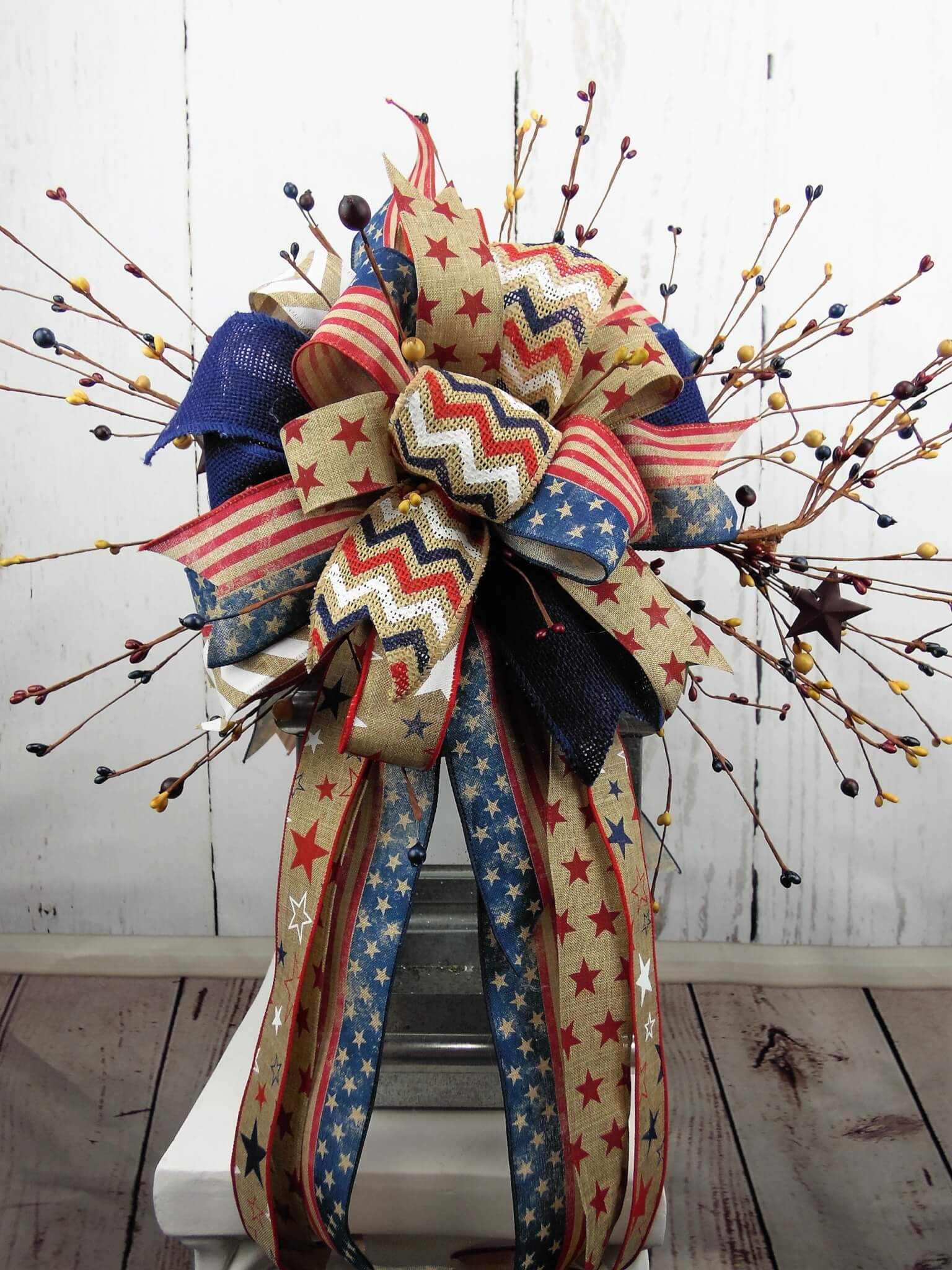 Rustic Patriotic Americana Lantern Swag
