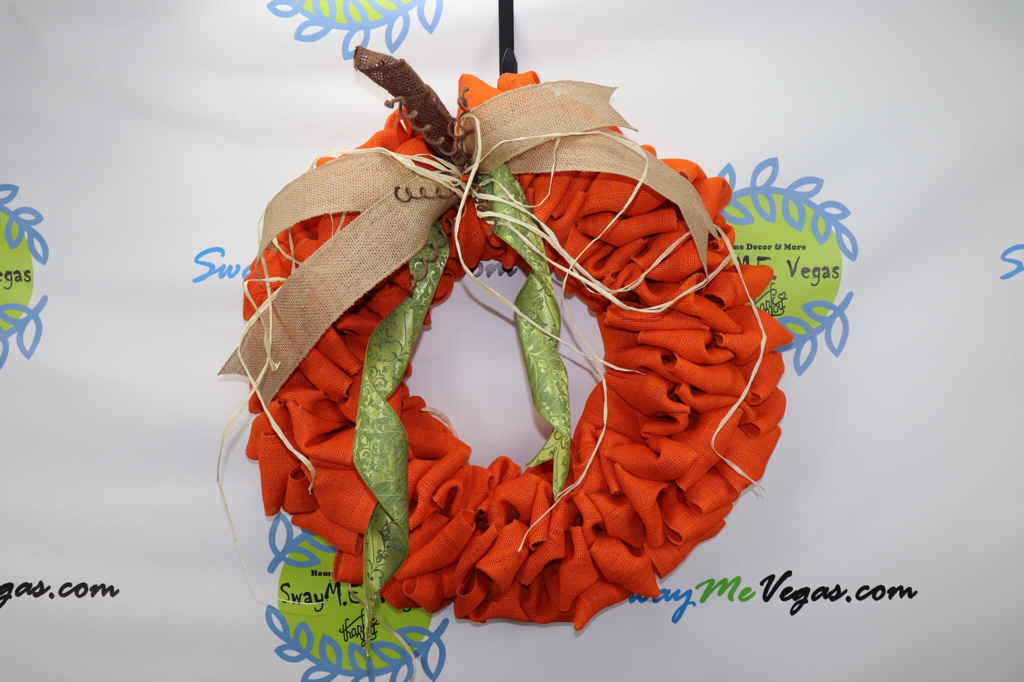 Fall Pumpkin Burlap Wreath