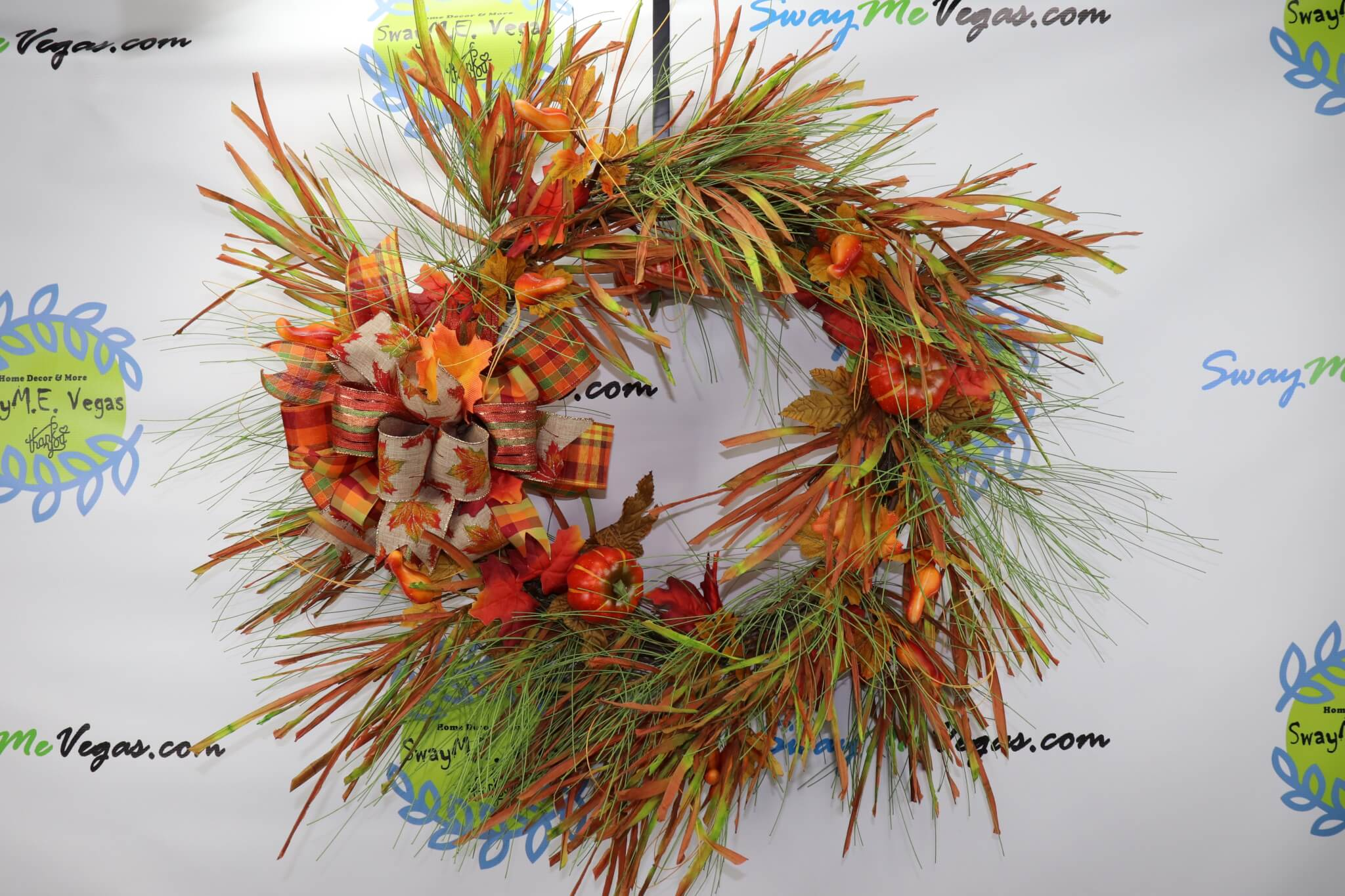 Fall Pumpkin XXL Grapevine Wreath