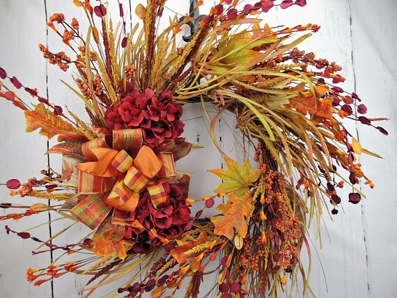 Autumn Harvest Grapevine Wreath