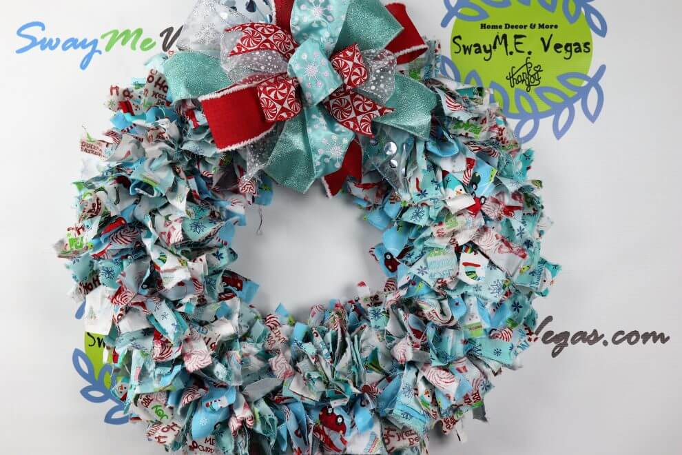 Holiday Fabric Wreath • Home Decor Wreaths | Garland | Centerpieces ...