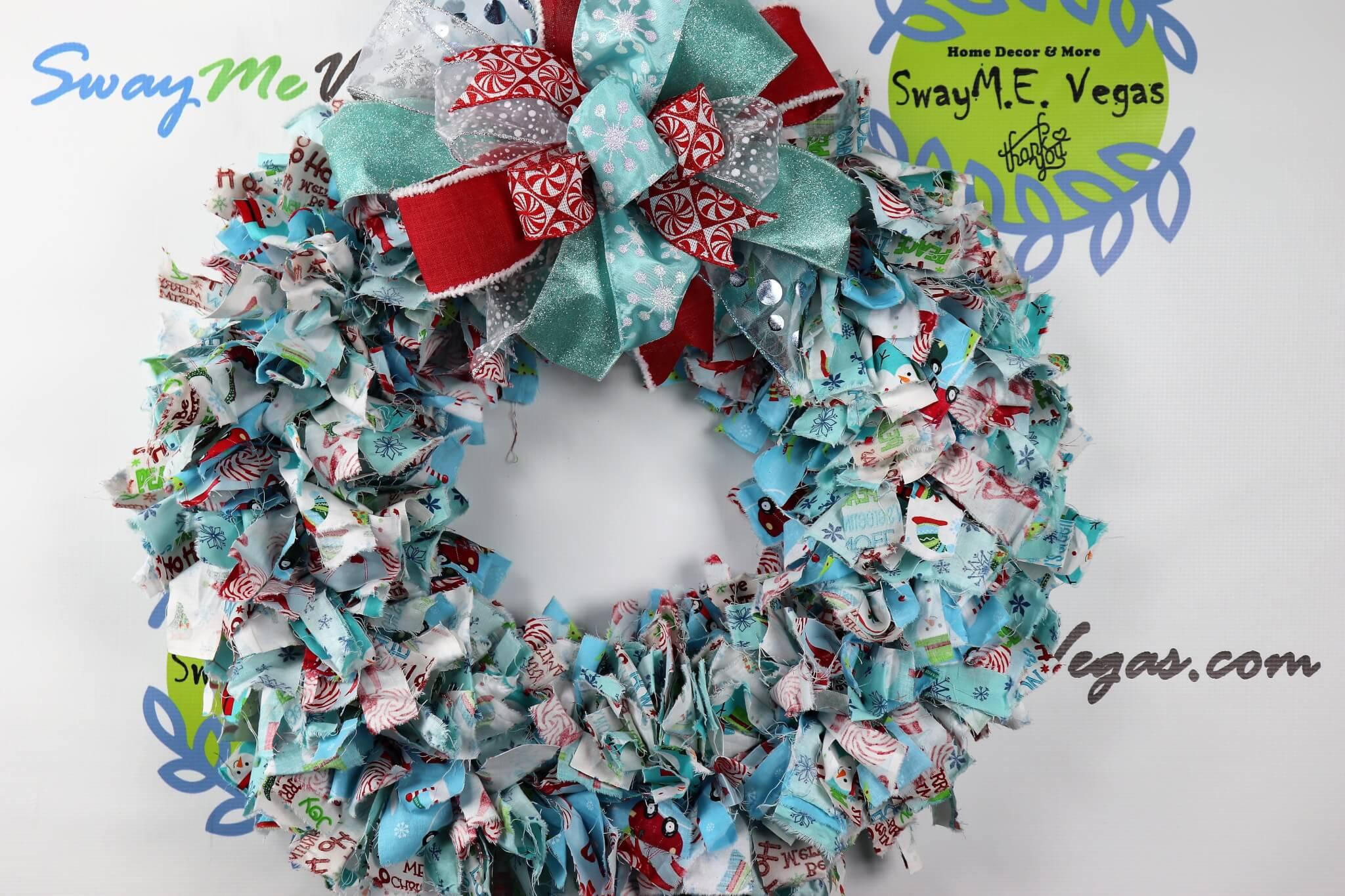 Holiday Fabric Wreath
