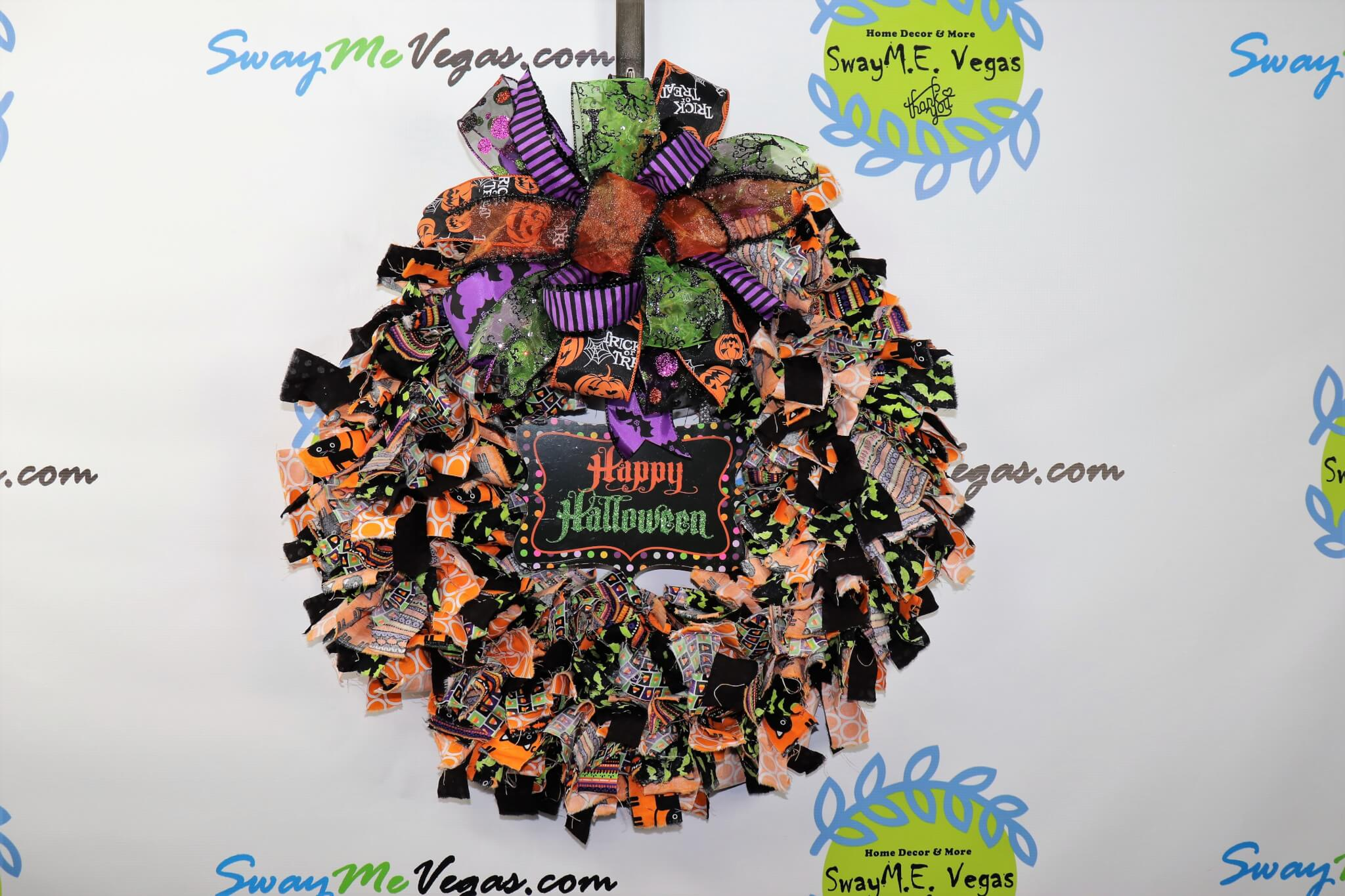 Halloween Fabric Wreath