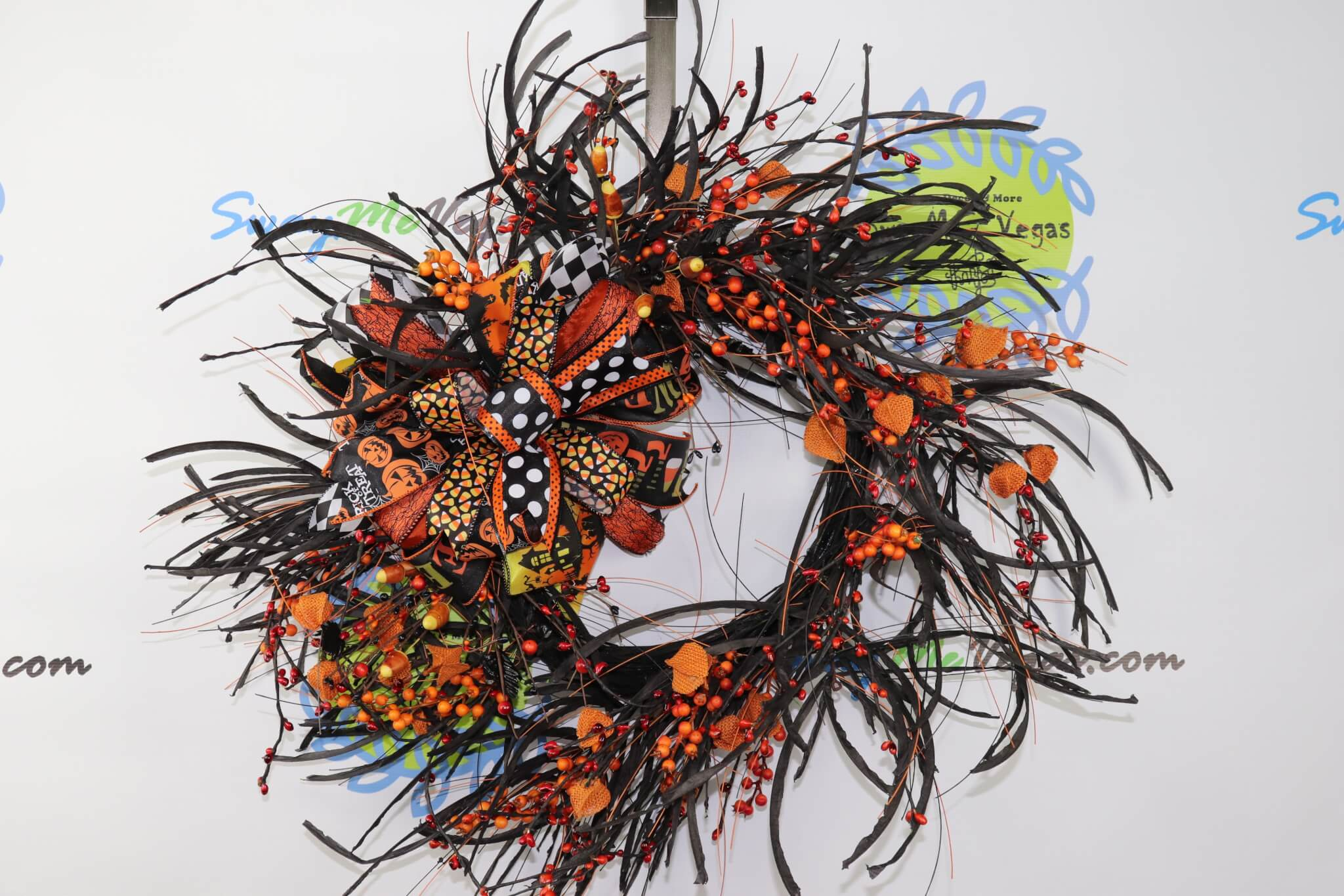 Halloween-Whimisical-Candy-Corn-Wreath-0 Halloween Candy Corn Grapevine Wreath