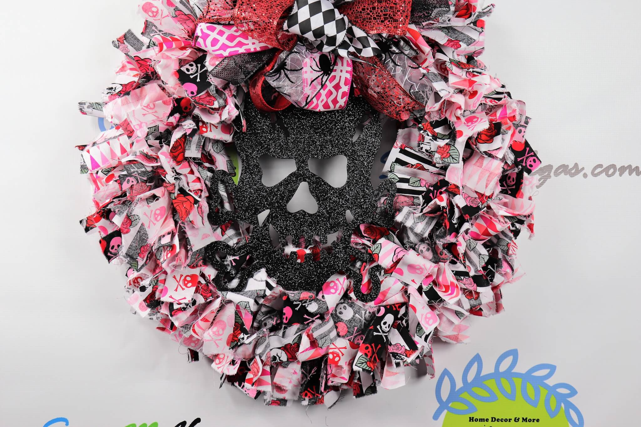 Halloween Love Fabric Wreath