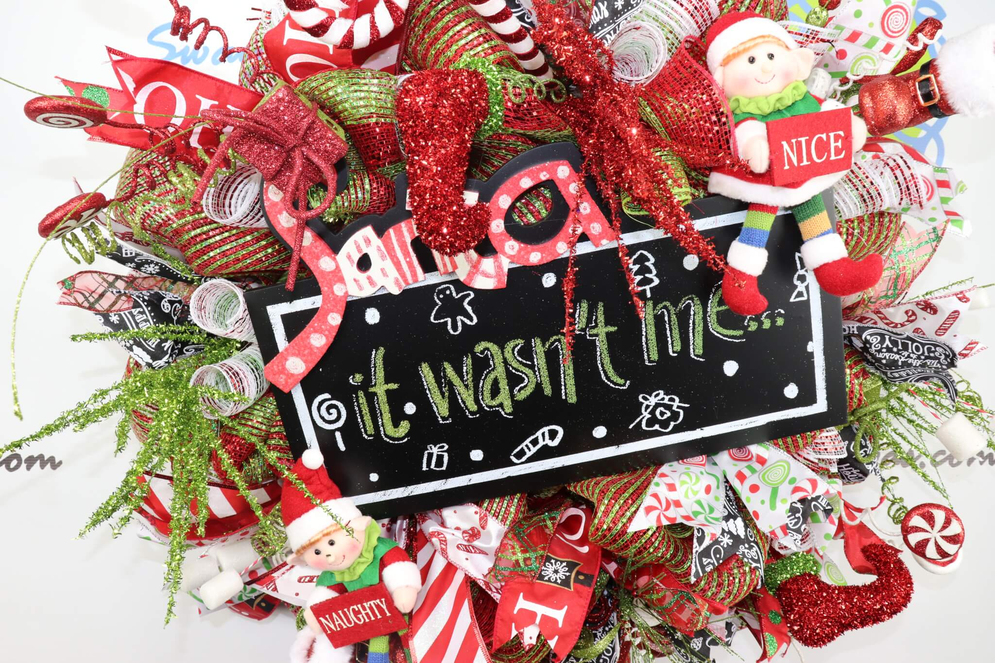 Santa It Wasn't Me Wreath
