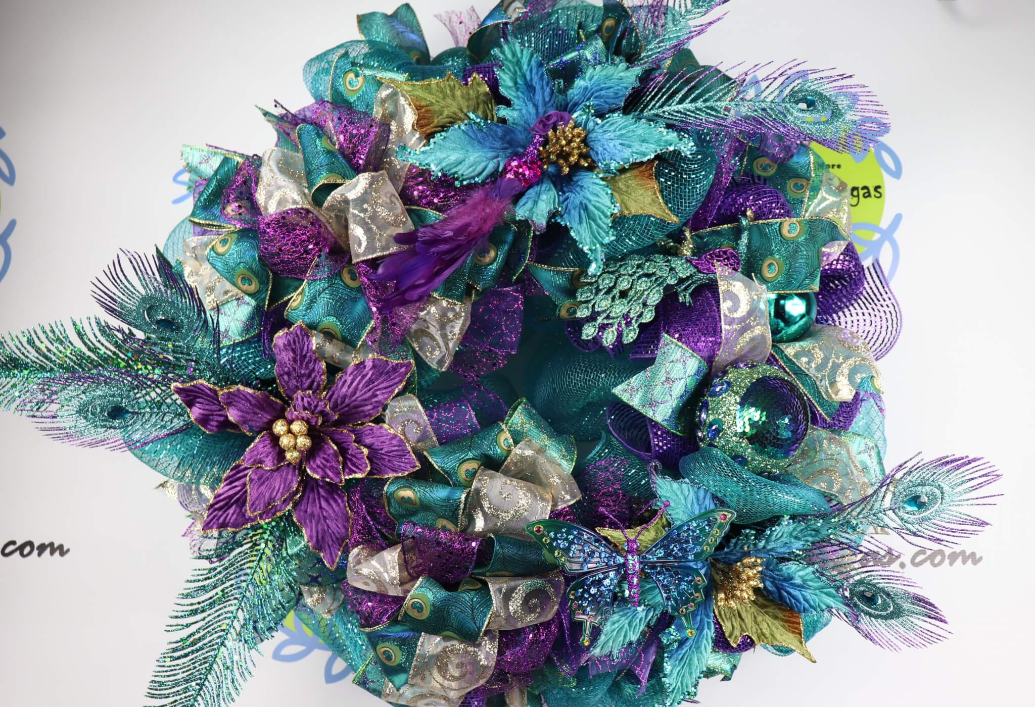 Peacock Christmas Wreath 2017