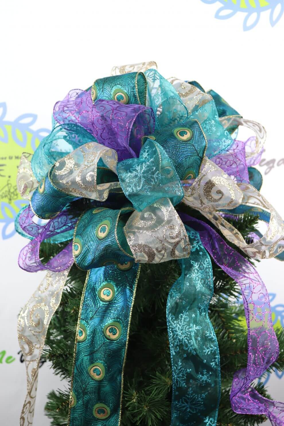Peacock Christmas Tree Topper Home Decor Wreaths Garland