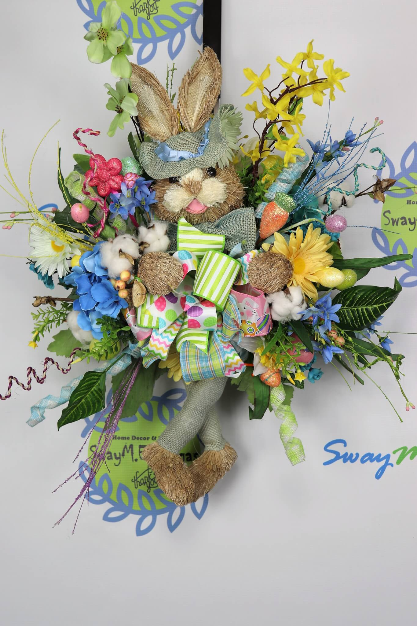 Easter Bunny Door Swag Wreath