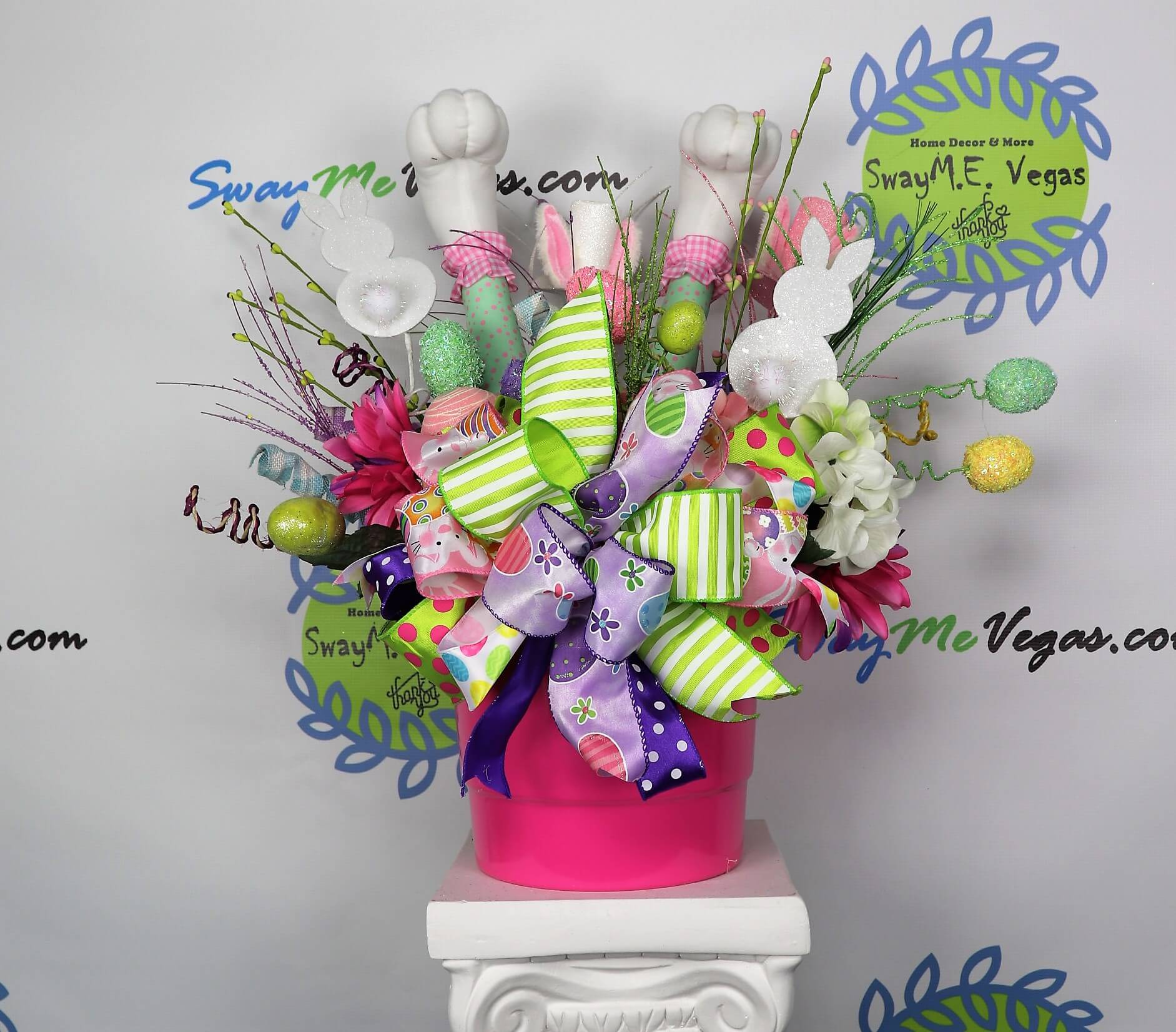 Easter Bunny Leg Table Centerpiece