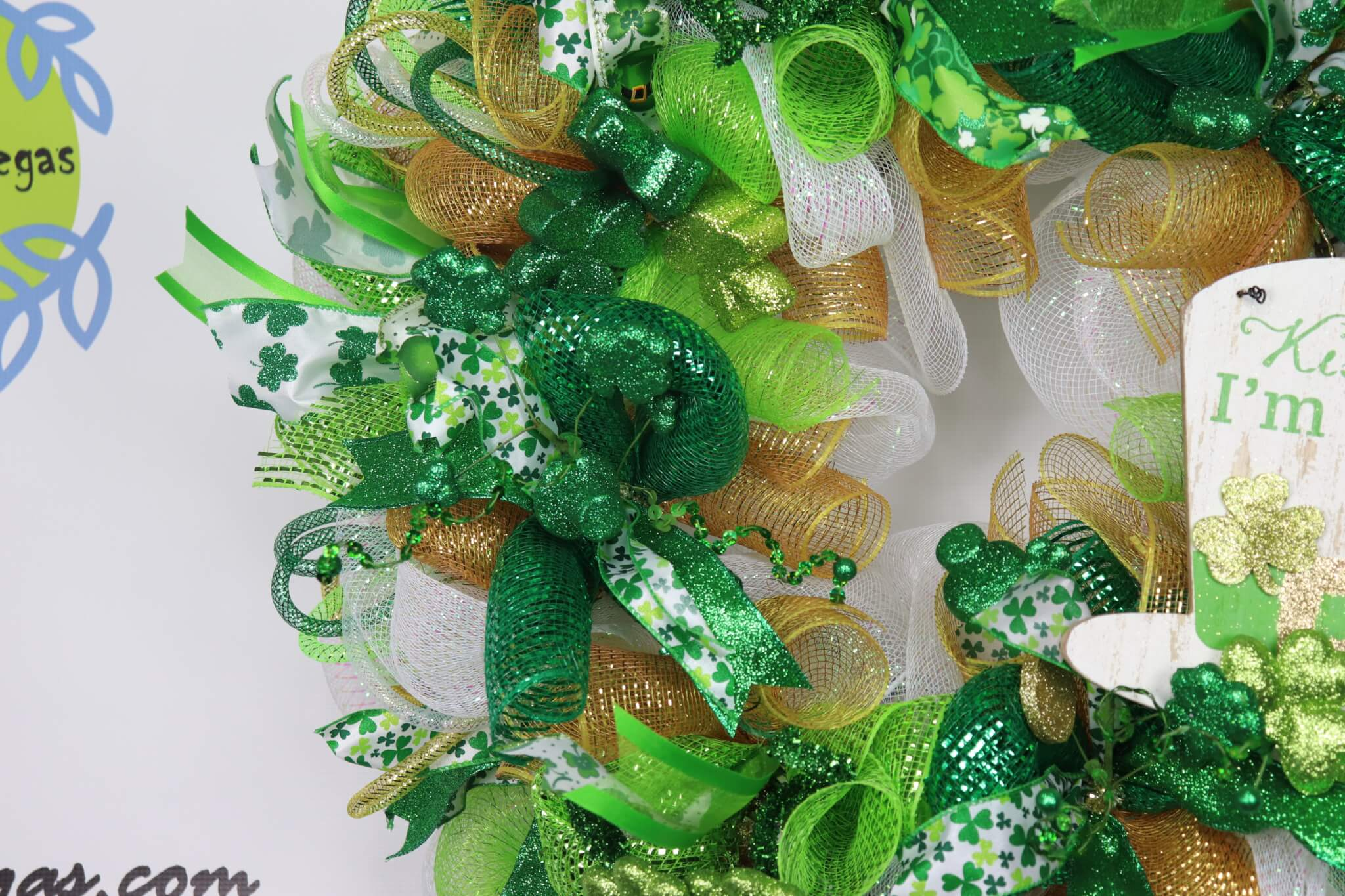 St. Patricks Day Deco Mesh Wreath