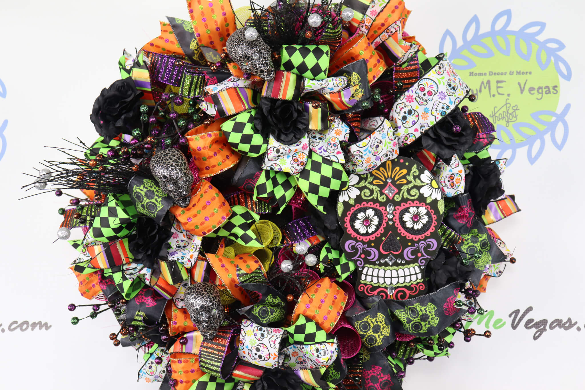 Day-of-the-Dead-Halloween-Wreath-1-1 Day of the Dead Halloween Wreath