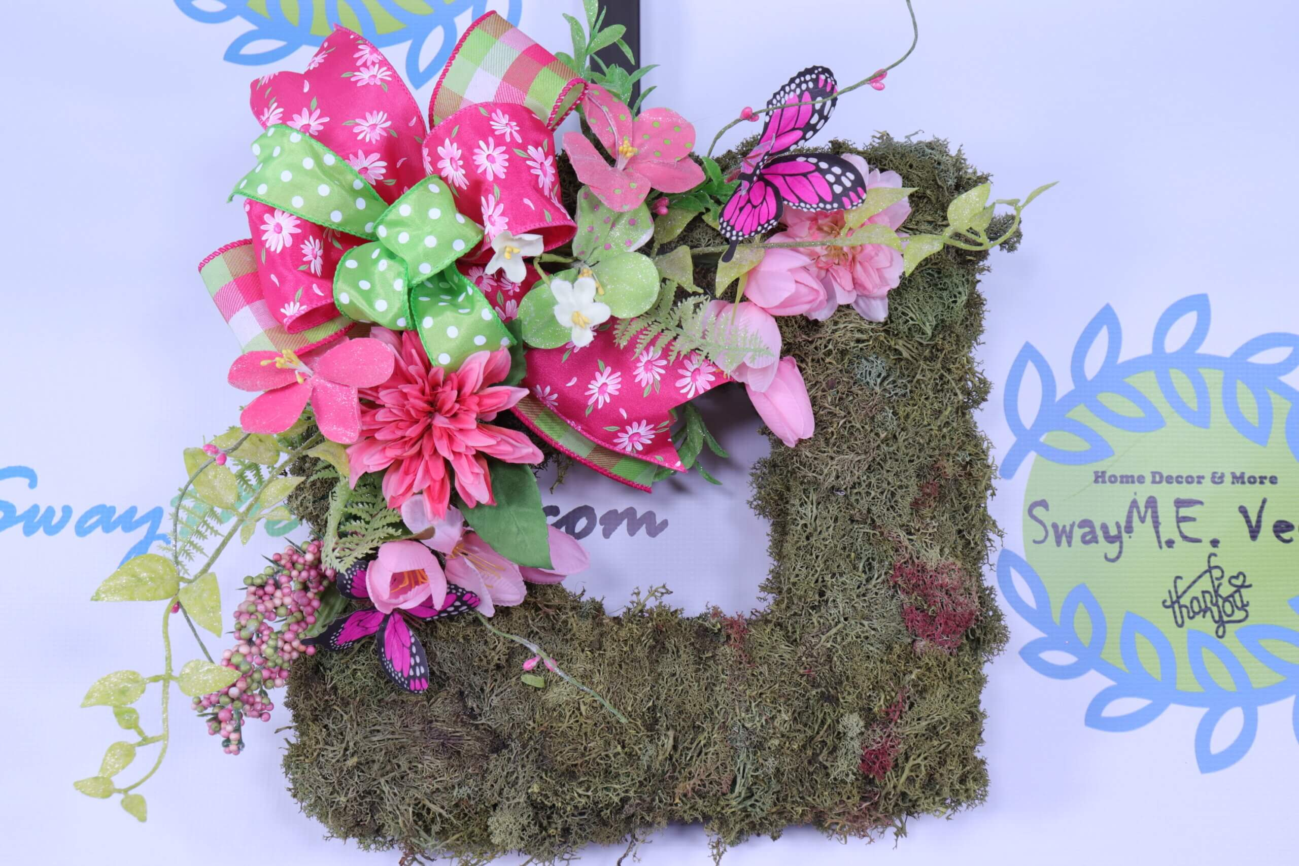 Small Square Moss Spring Wreath 4 scaled
