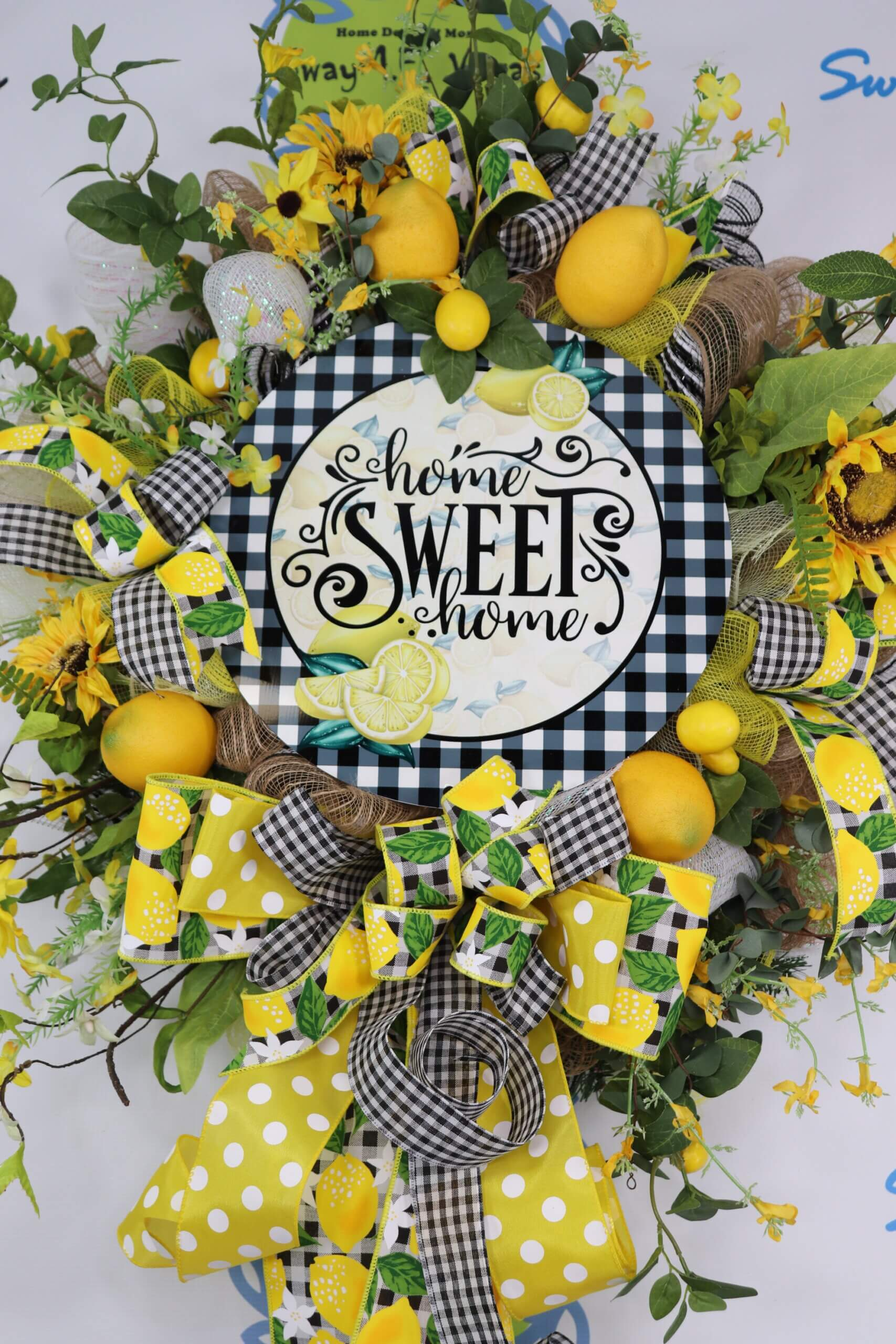 Home Sweet Home Lemon Summertime Wreath 0 scaled