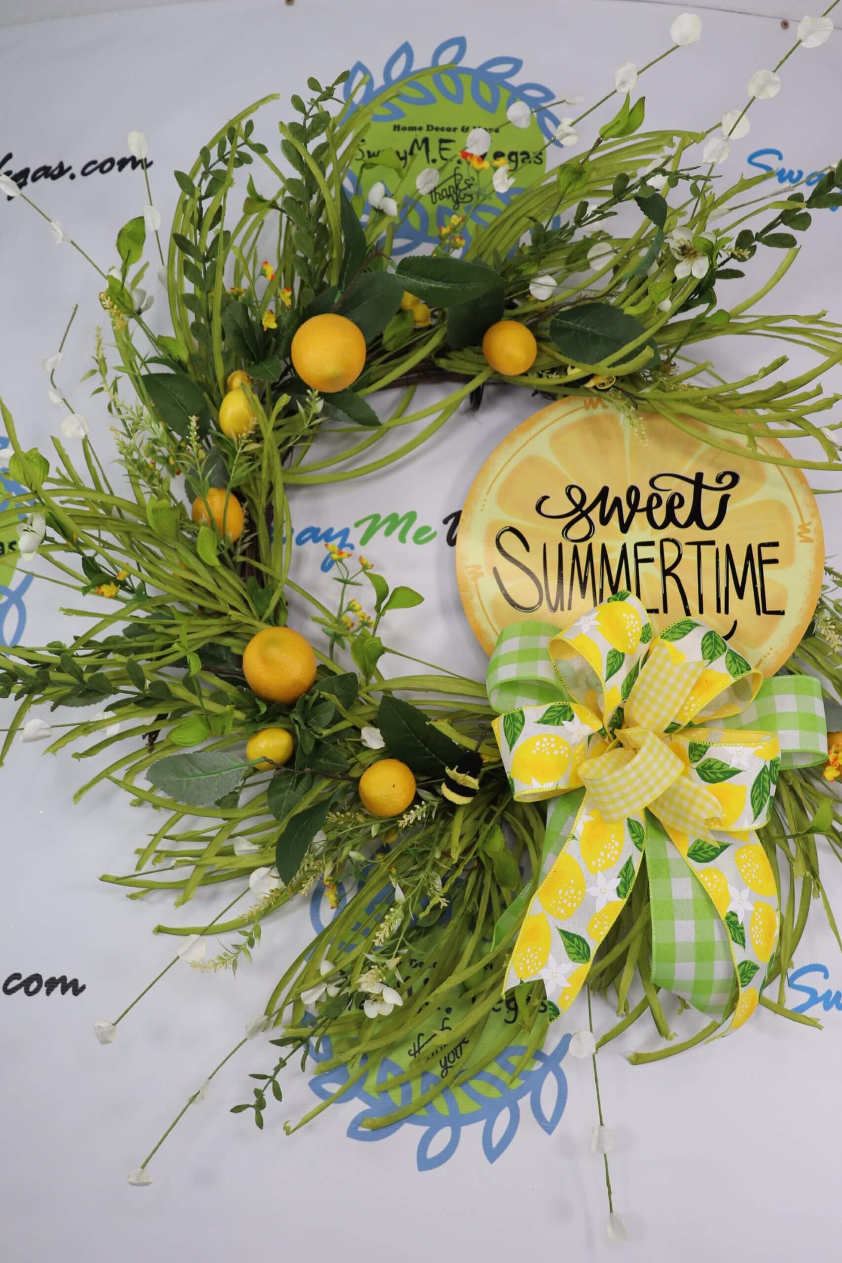 Sweet Summertime Lemon Wreath Grapevine 0 scaled