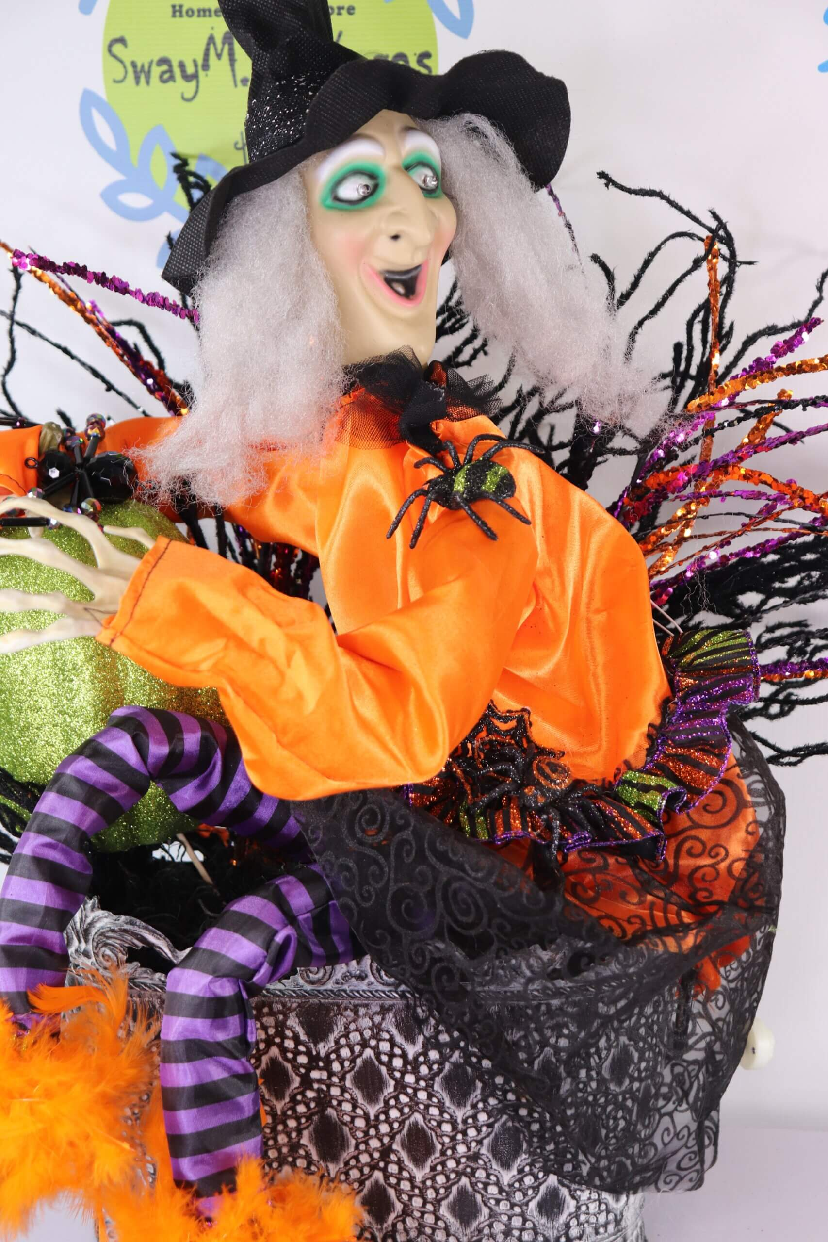 Halloween Animated Moving and Talking Witch Centerpiece 0 scaled